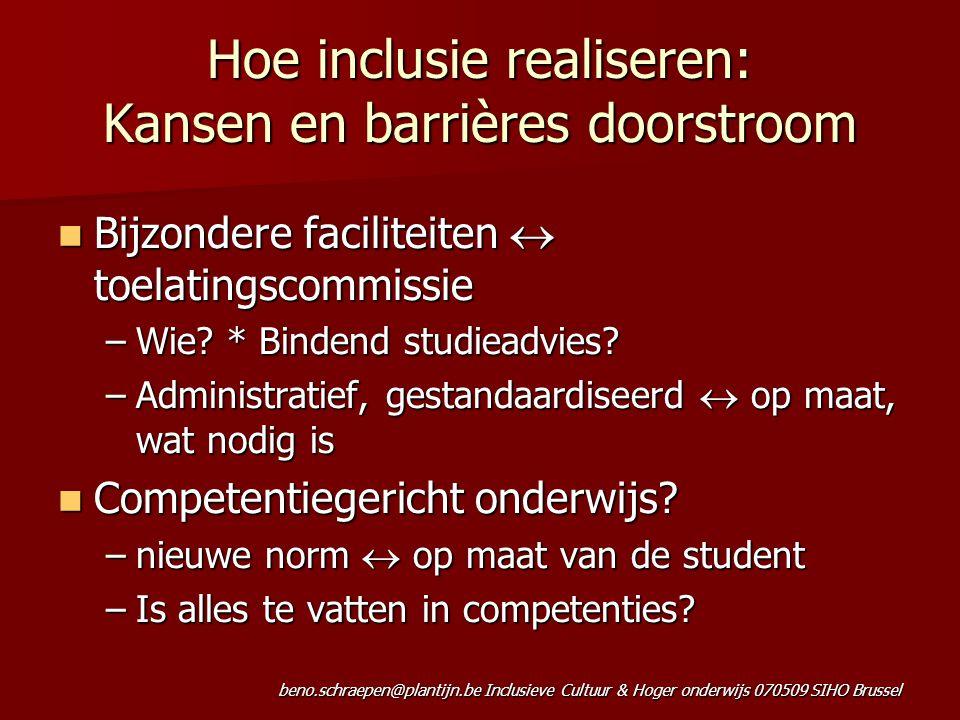 Hoe inclusie realiseren: Kansen en barrières doorstroom
