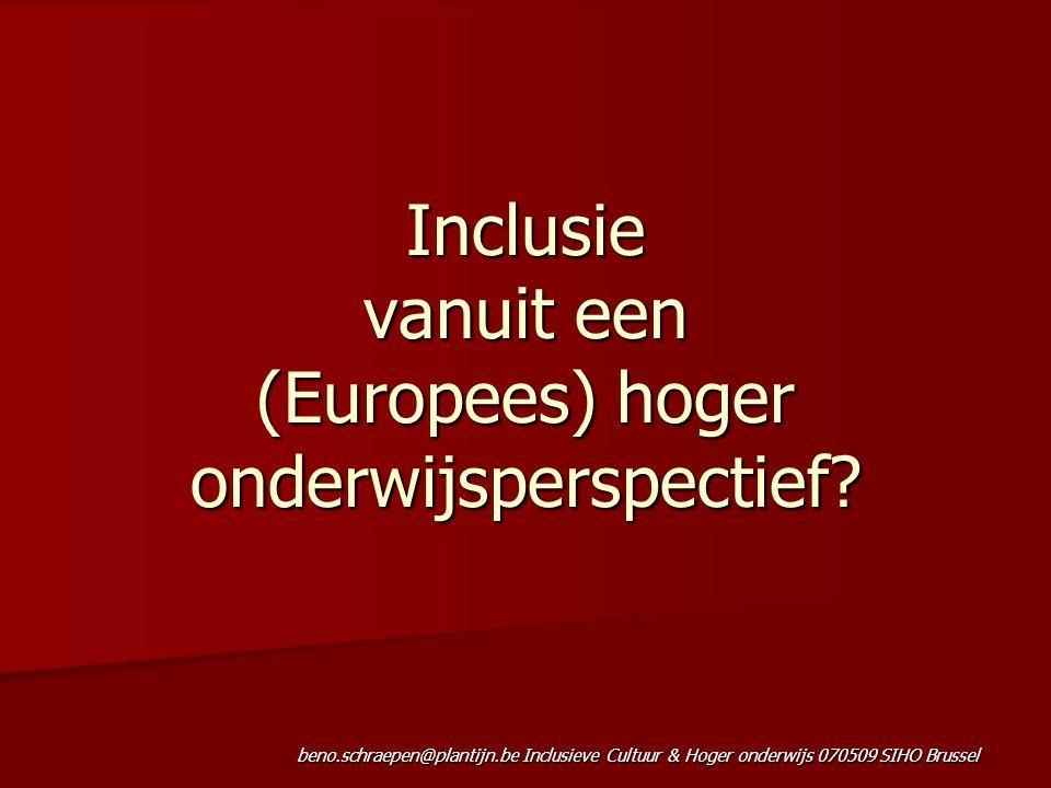 Inclusie vanuit een (Europees) hoger onderwijsperspectief
