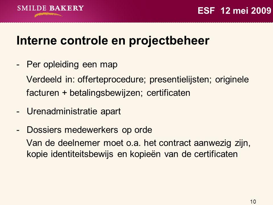 Interne controle en projectbeheer