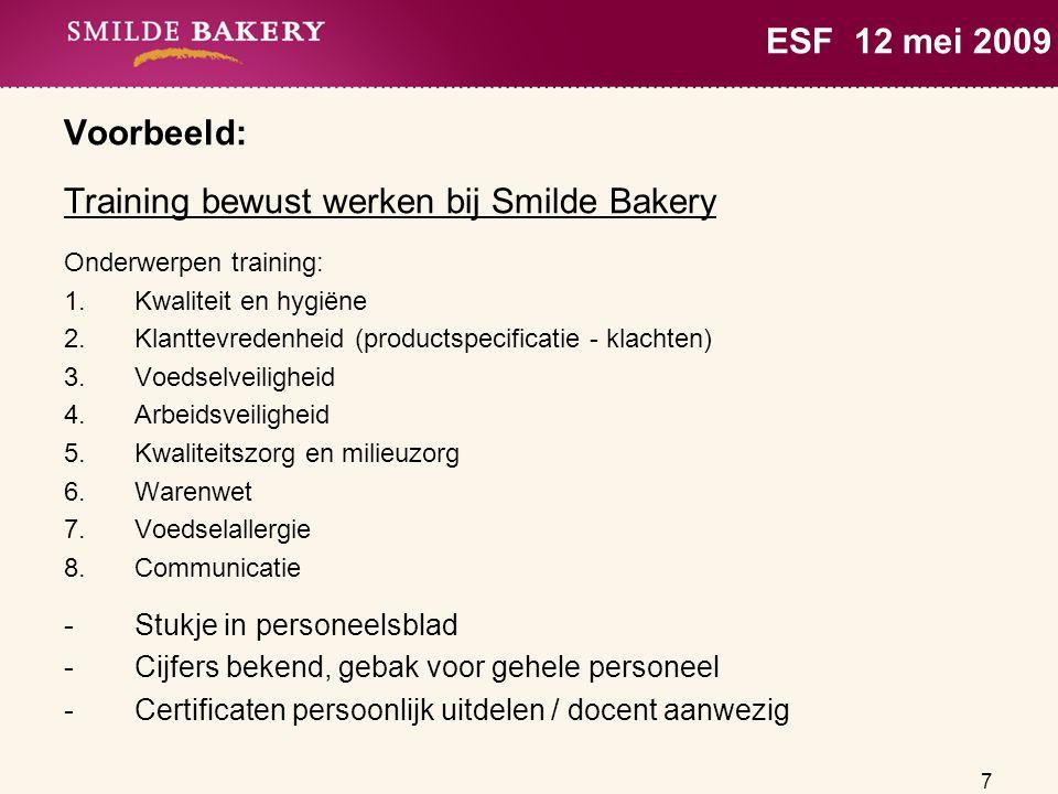 Training bewust werken bij Smilde Bakery