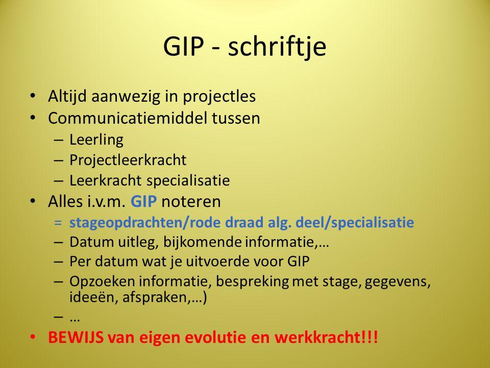 GIP - schriftje Altijd aanwezig in projectles