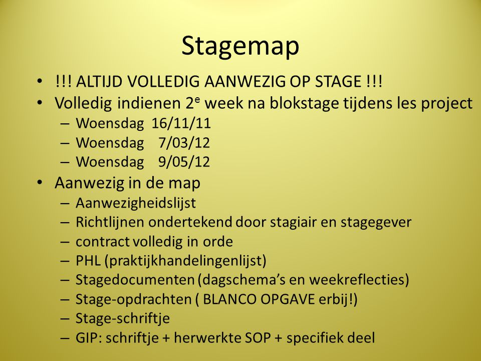 Stagemap !!! ALTIJD VOLLEDIG AANWEZIG OP STAGE !!!