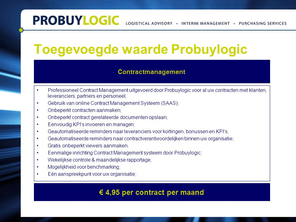 Toegevoegde waarde Probuylogic