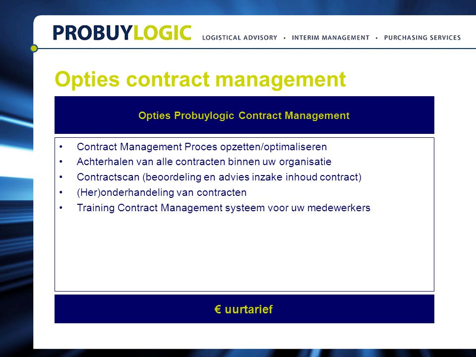 Opties contract management