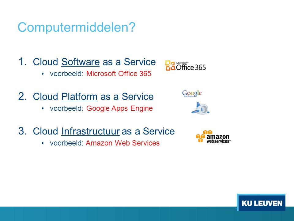 Computermiddelen Cloud Software as a Service