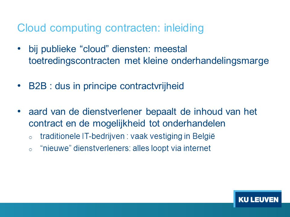 Cloud computing contracten: inleiding