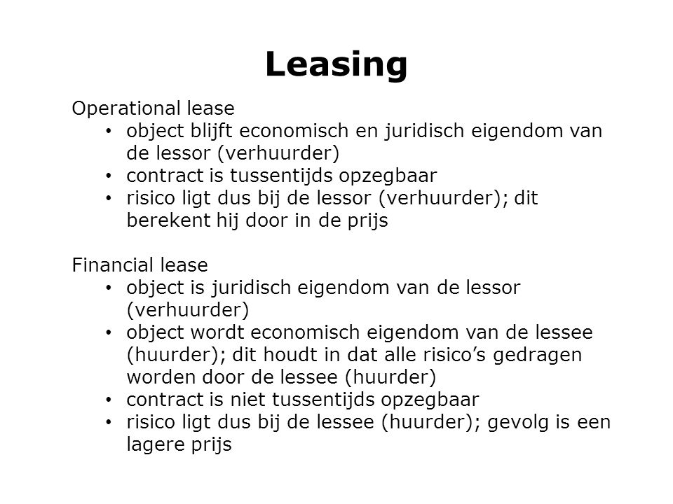 Leasing Operational lease