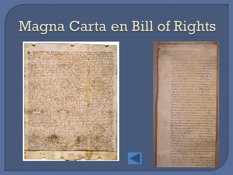 Magna Carta en Bill of Rights