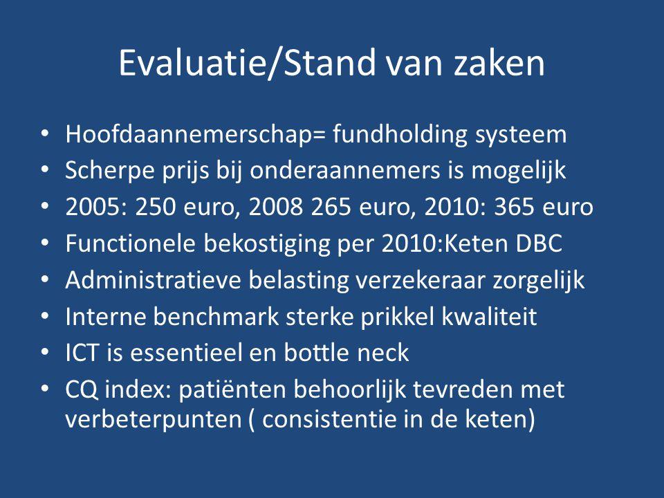 Evaluatie/Stand van zaken