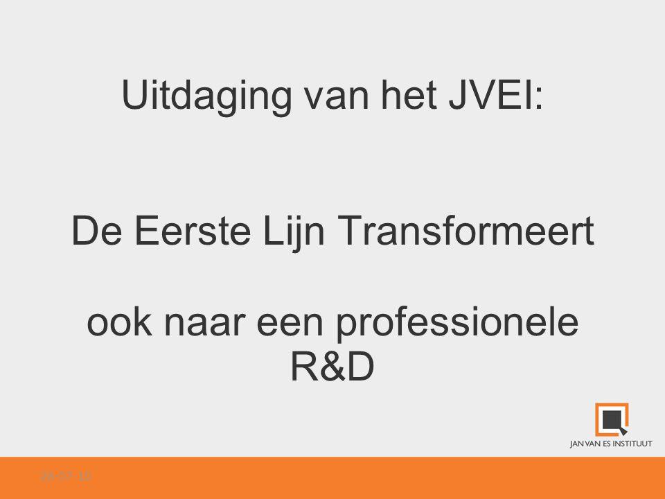 Uitdaging van het JVEI: De Eerste Lijn Transformeert ook naar een professionele R&D