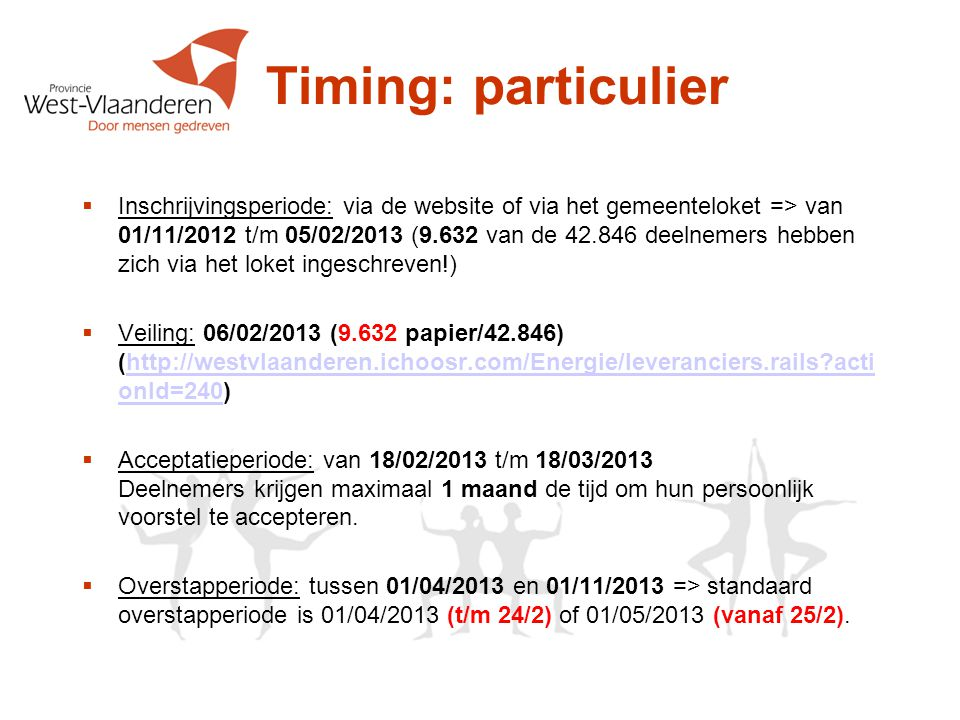 Timing: particulier