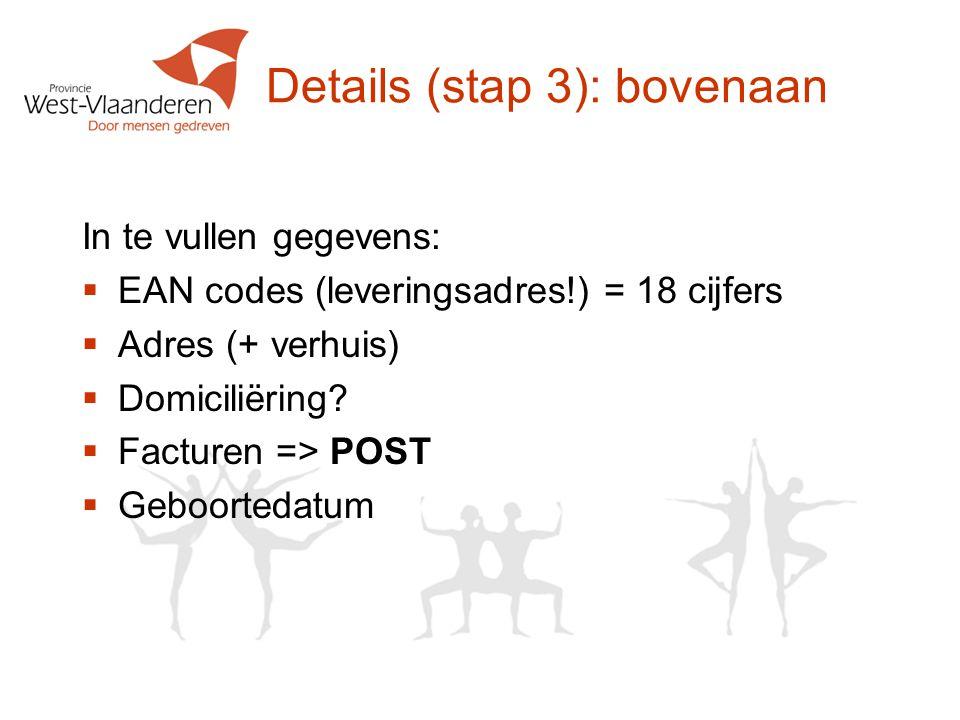 Details (stap 3): bovenaan