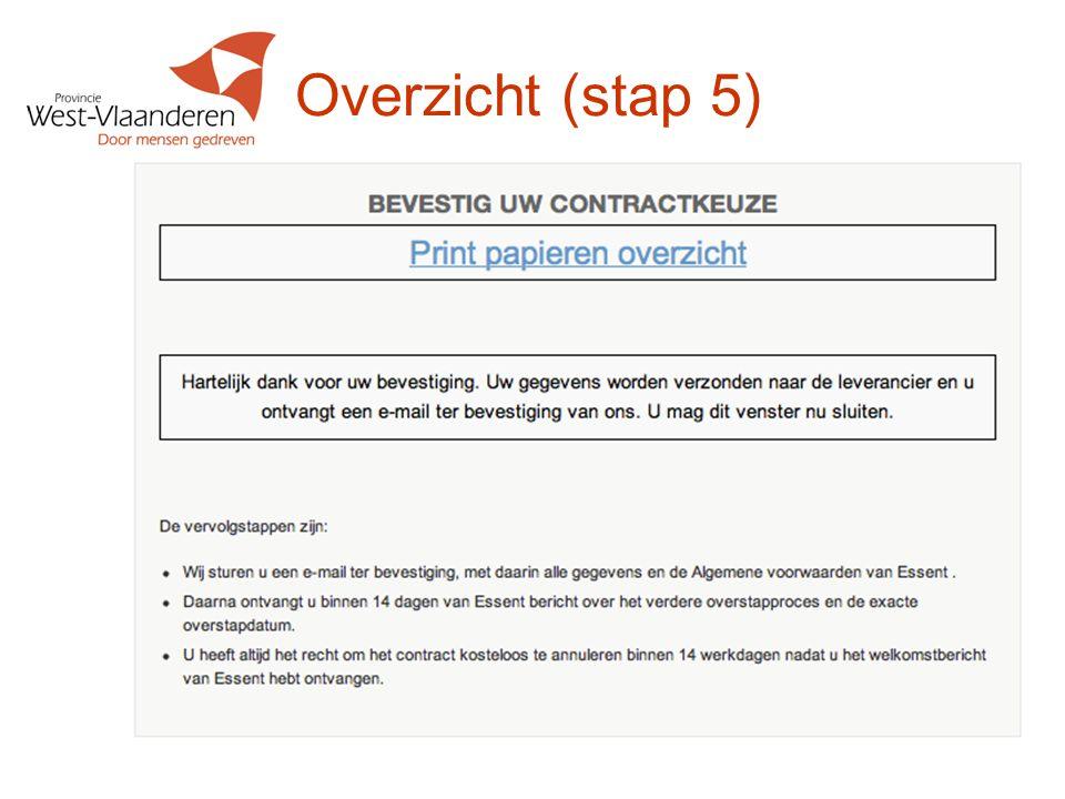 Overzicht (stap 5) Tip: Laat deelnemers een exemplaar tekenen dat ze het aanbod accepteren.