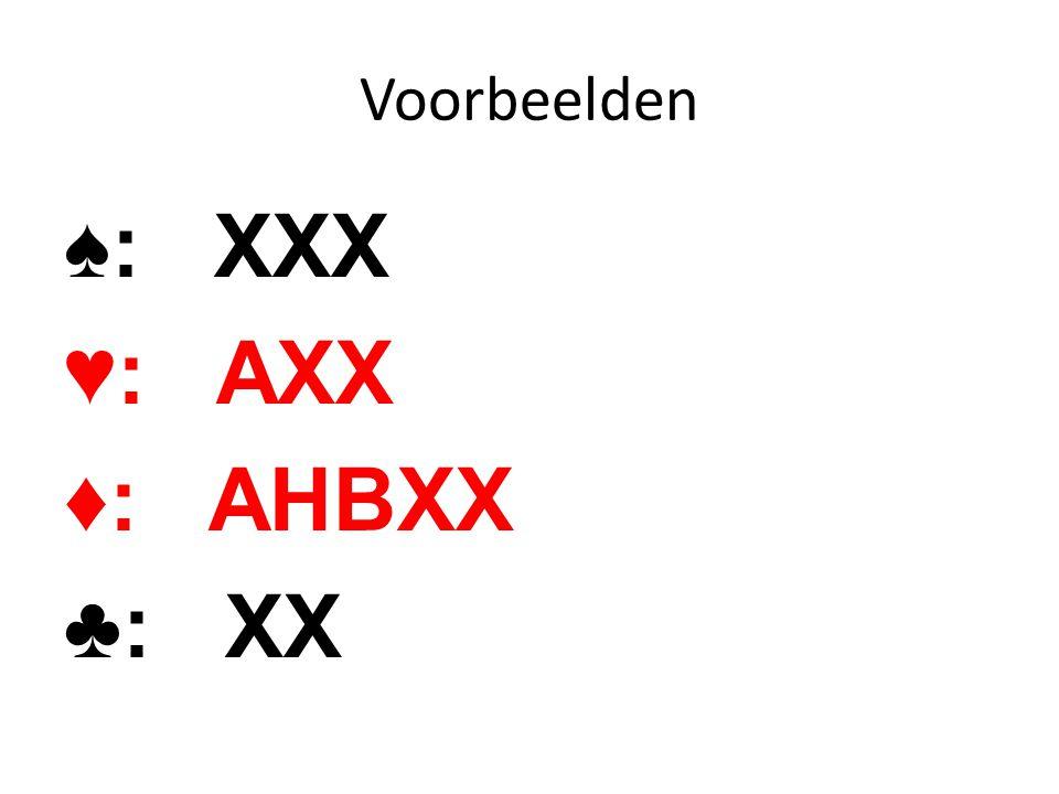 ♠: XXX ♥: AXX ♦: AHBXX ♣: XX