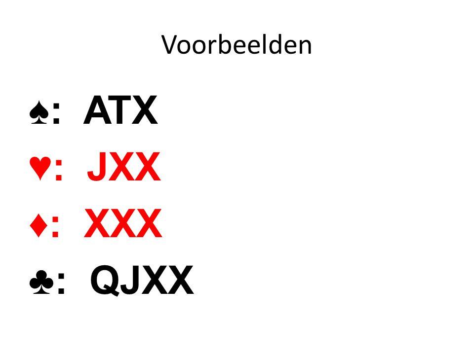 ♠: ATX ♥: JXX ♦: XXX ♣: QJXX