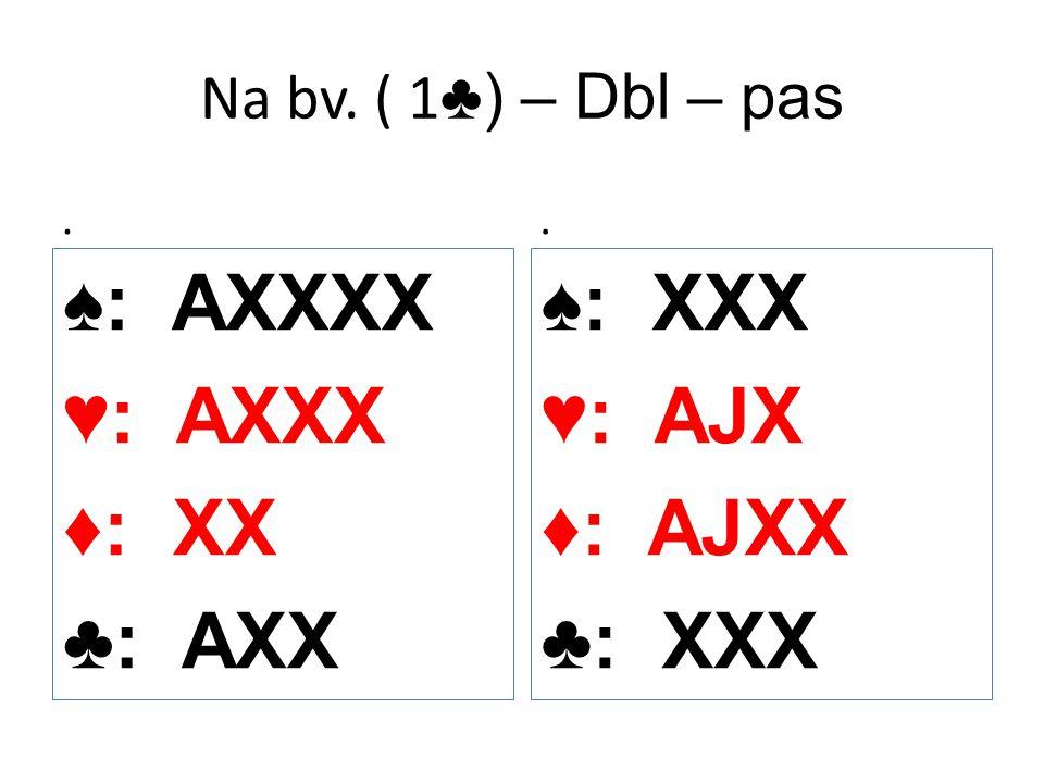 ♠: AXXXX ♥: AXXX ♦: XX ♣: AXX ♠: XXX ♥: AJX ♦: AJXX ♣: XXX