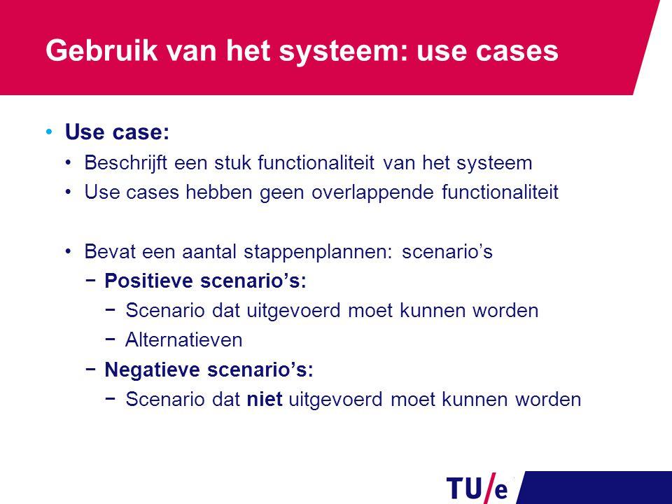 Gebruik van het systeem: use cases