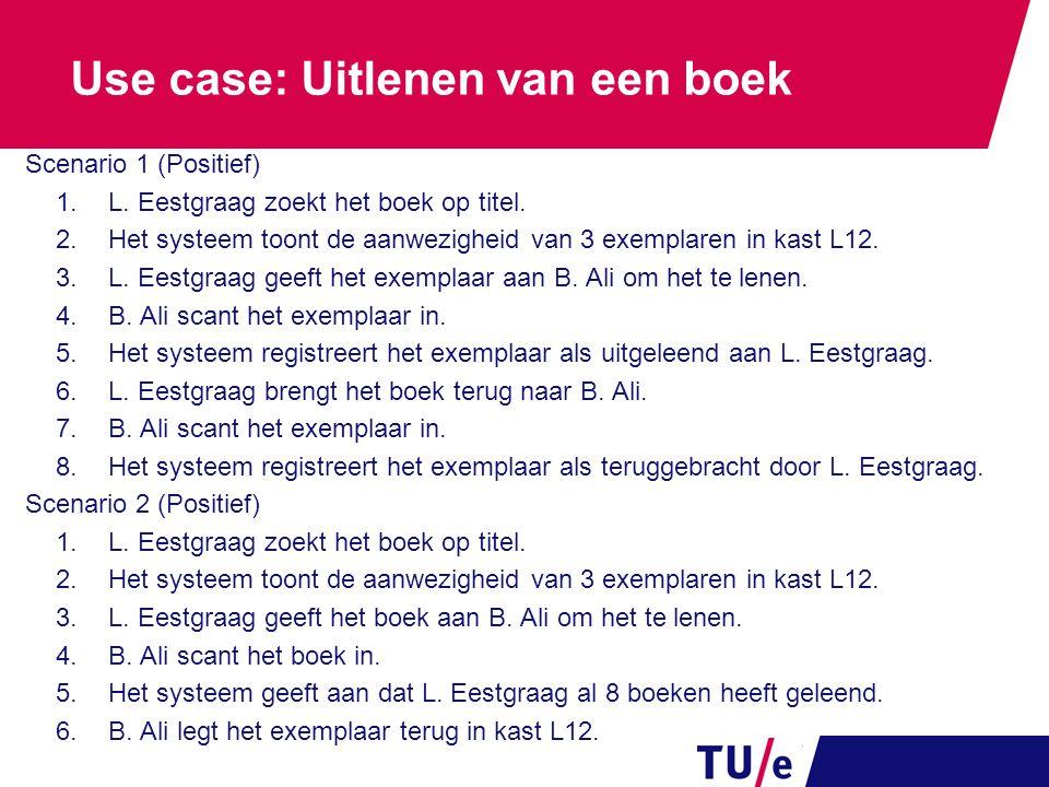 Use case: Uitlenen van een boek