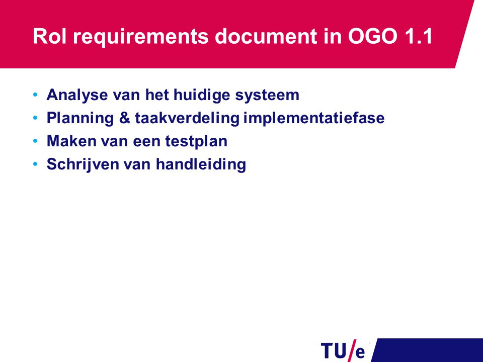 Rol requirements document in OGO 1.1