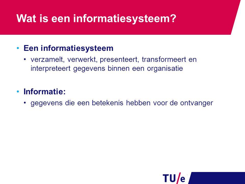 Wat is een informatiesysteem