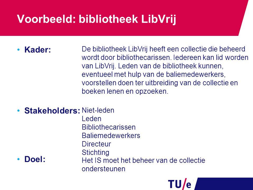 Voorbeeld: bibliotheek LibVrij