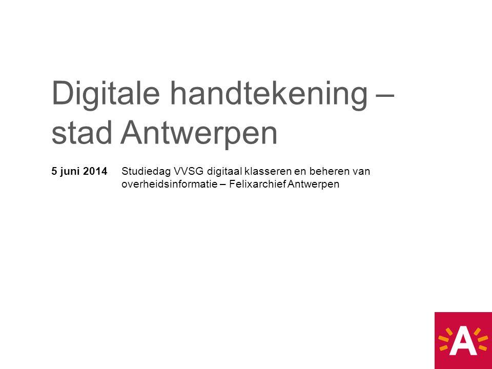 Digitale handtekening – stad Antwerpen