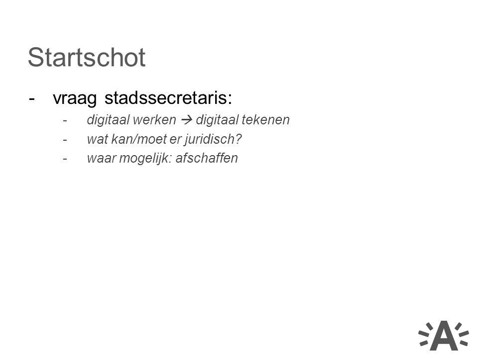 Startschot vraag stadssecretaris: digitaal werken  digitaal tekenen