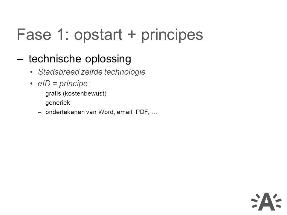 Fase 1: opstart + principes