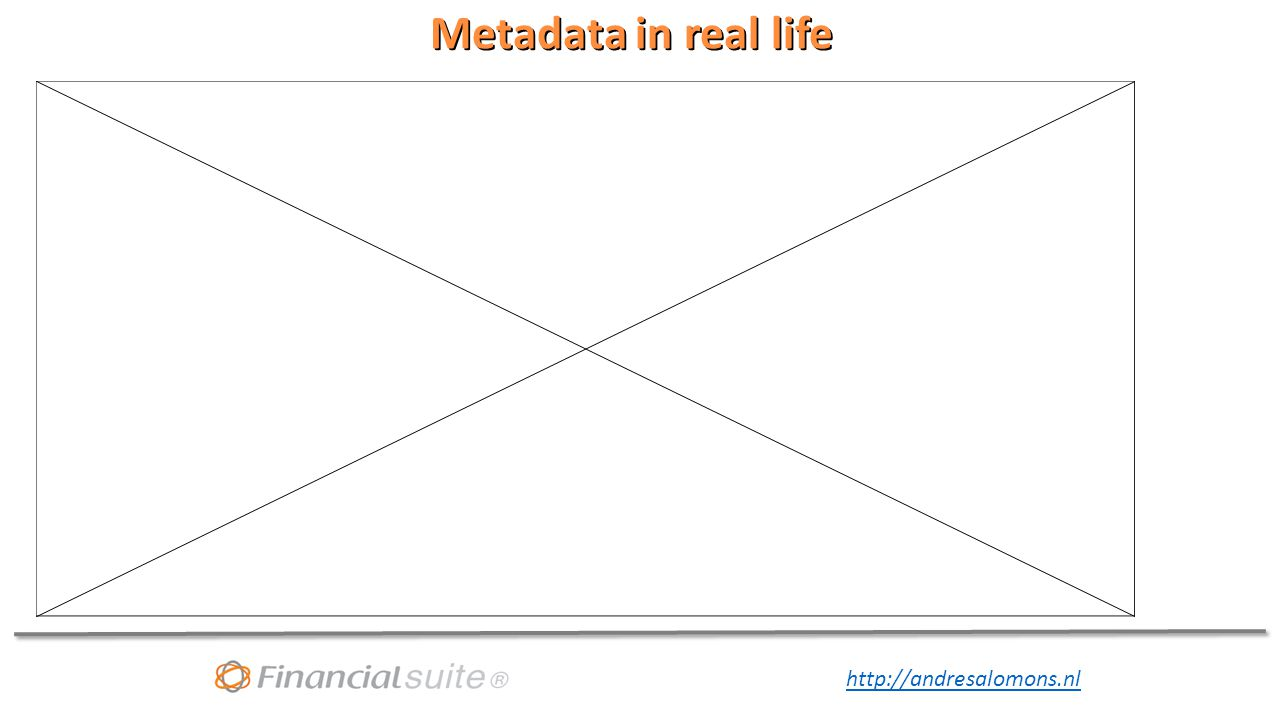 Metadata in real life