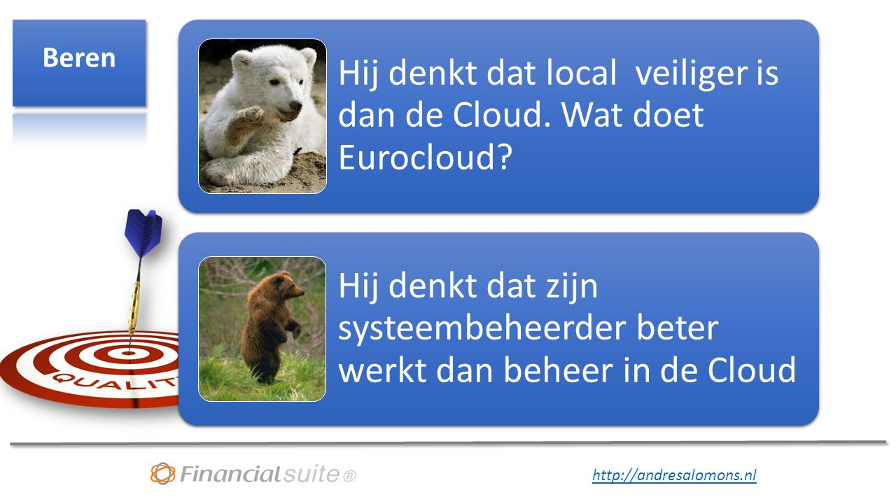 Beren Hij denkt dat local veiliger is dan de Cloud.