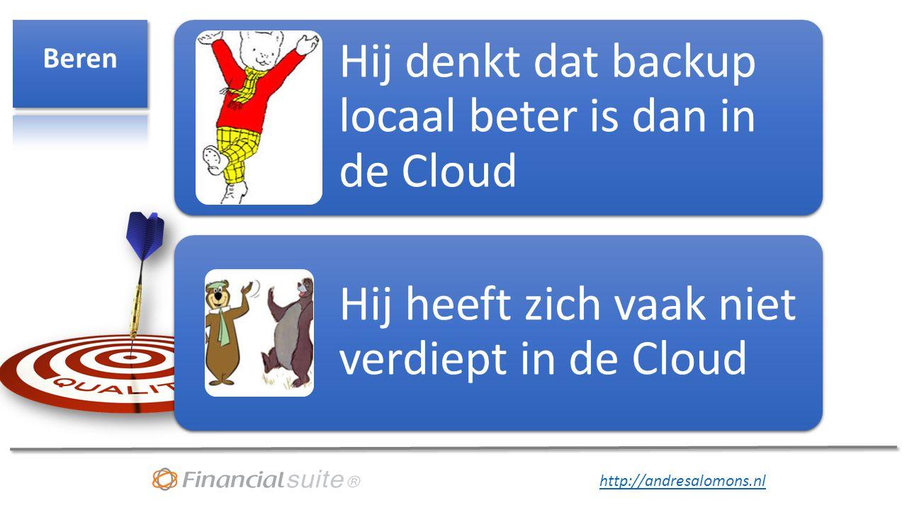 Beren Hij denkt dat backup locaal beter is dan in de Cloud