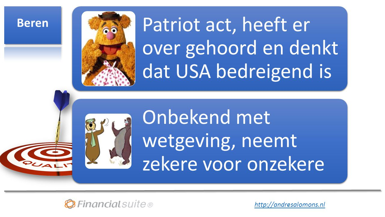 Beren Patriot act, heeft er over gehoord en denkt dat USA bedreigend is.