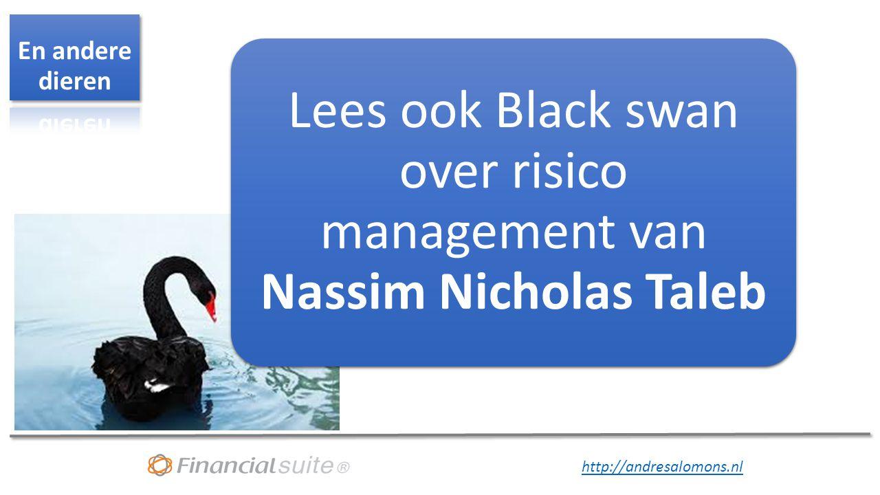 Lees ook Black swan over risico management van Nassim Nicholas Taleb