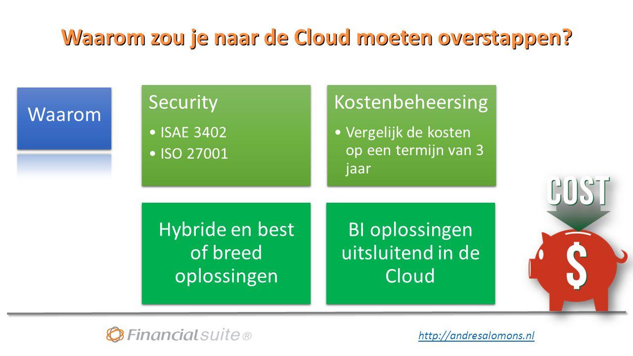 Waarom zou je naar de Cloud moeten overstappen