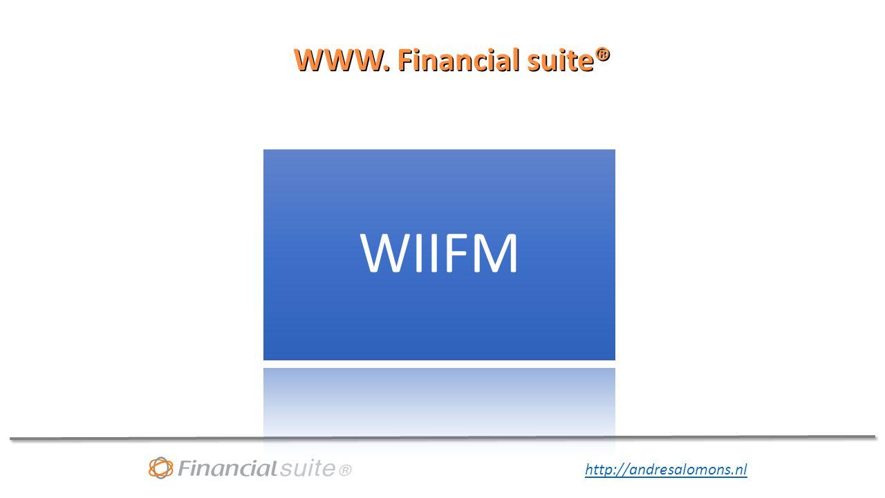 WWW. Financial suite® WIIFM