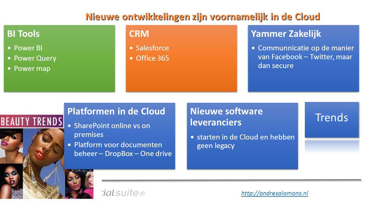 Nieuwe ontwikkelingen zijn voornamelijk in de Cloud