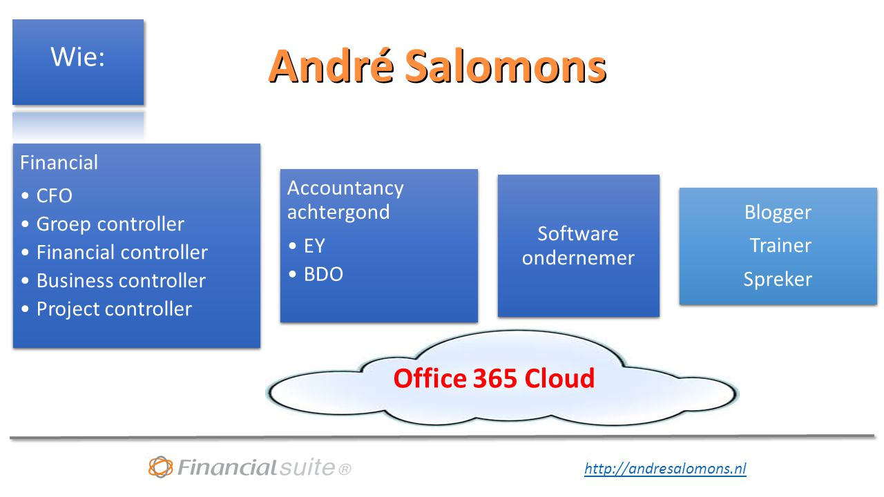 André Salomons Wie: Office 365 Cloud Financial CFO Groep controller
