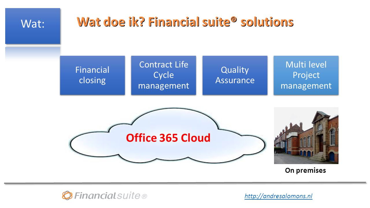 Wat doe ik Financial suite® solutions