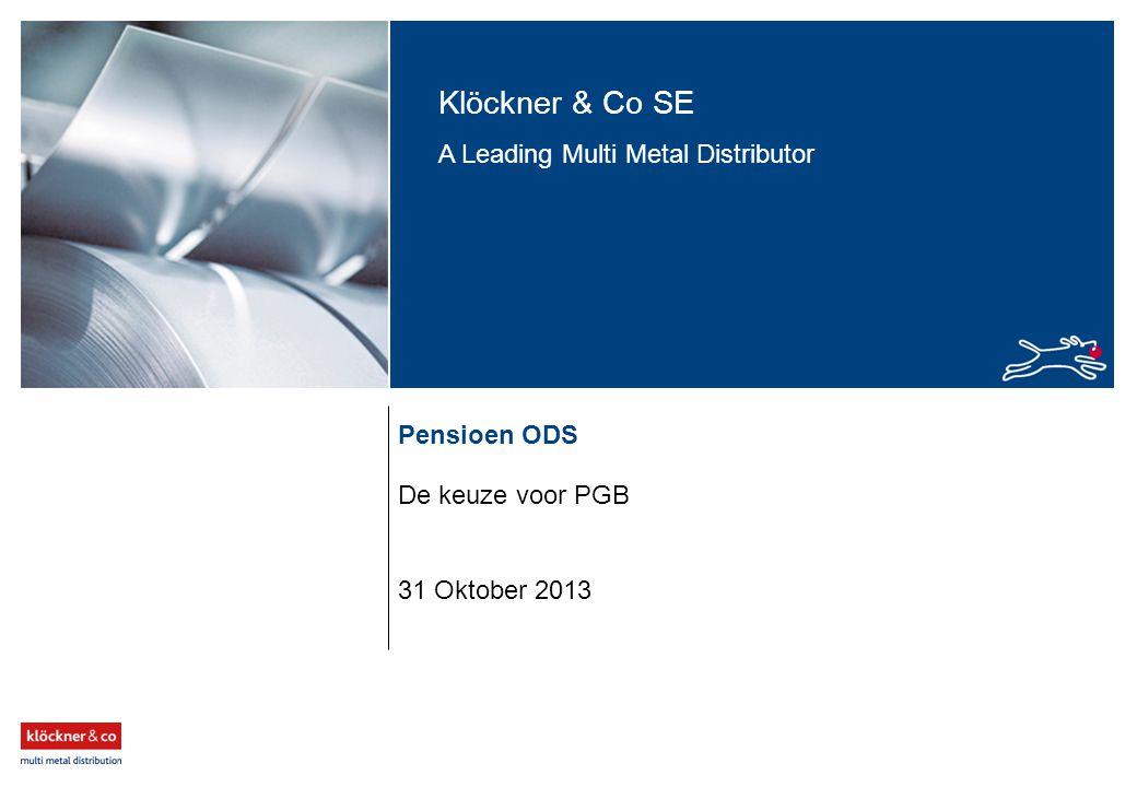 Pensioen ODS De keuze voor PGB 31 Oktober 2013