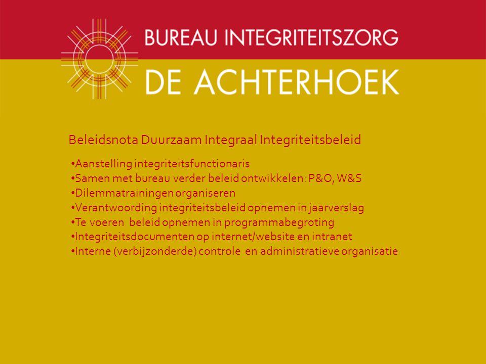 Beleidsnota Duurzaam Integraal Integriteitsbeleid