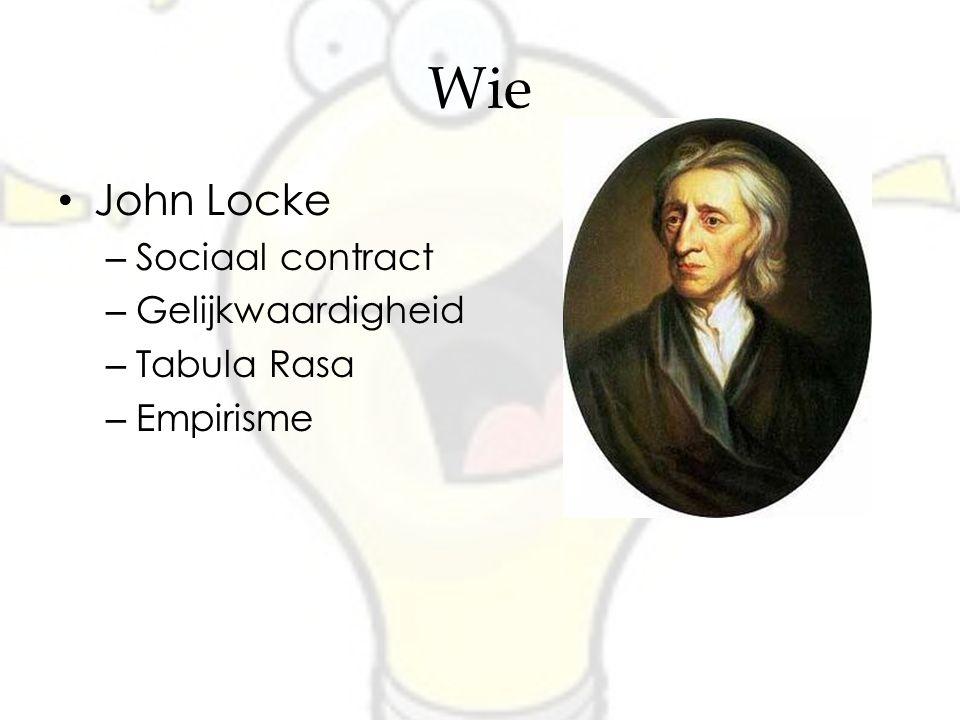 Wie John Locke Sociaal contract Gelijkwaardigheid Tabula Rasa