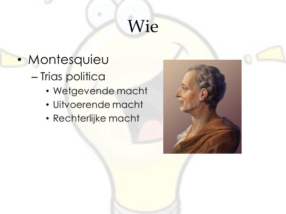Wie Montesquieu Trias politica Wetgevende macht Uitvoerende macht