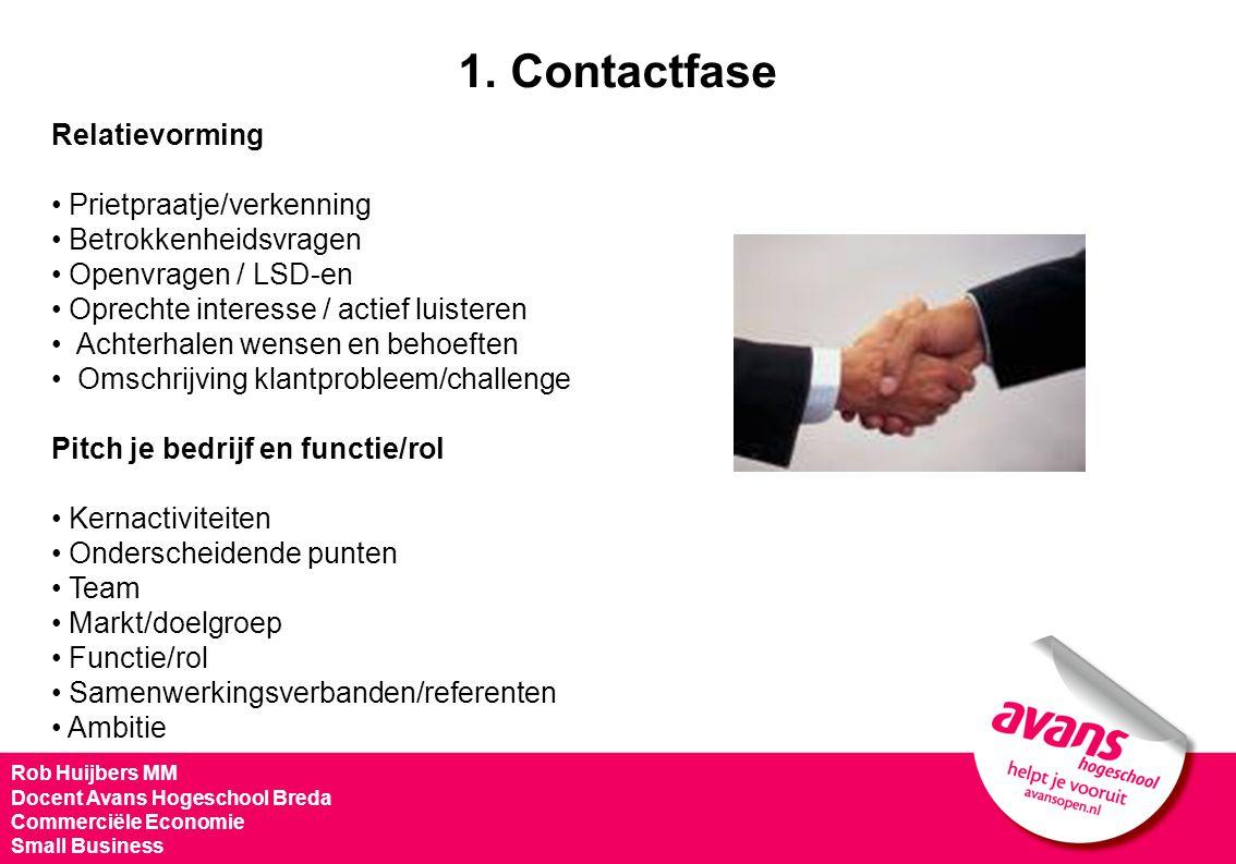 1. Contactfase Relatievorming Prietpraatje/verkenning