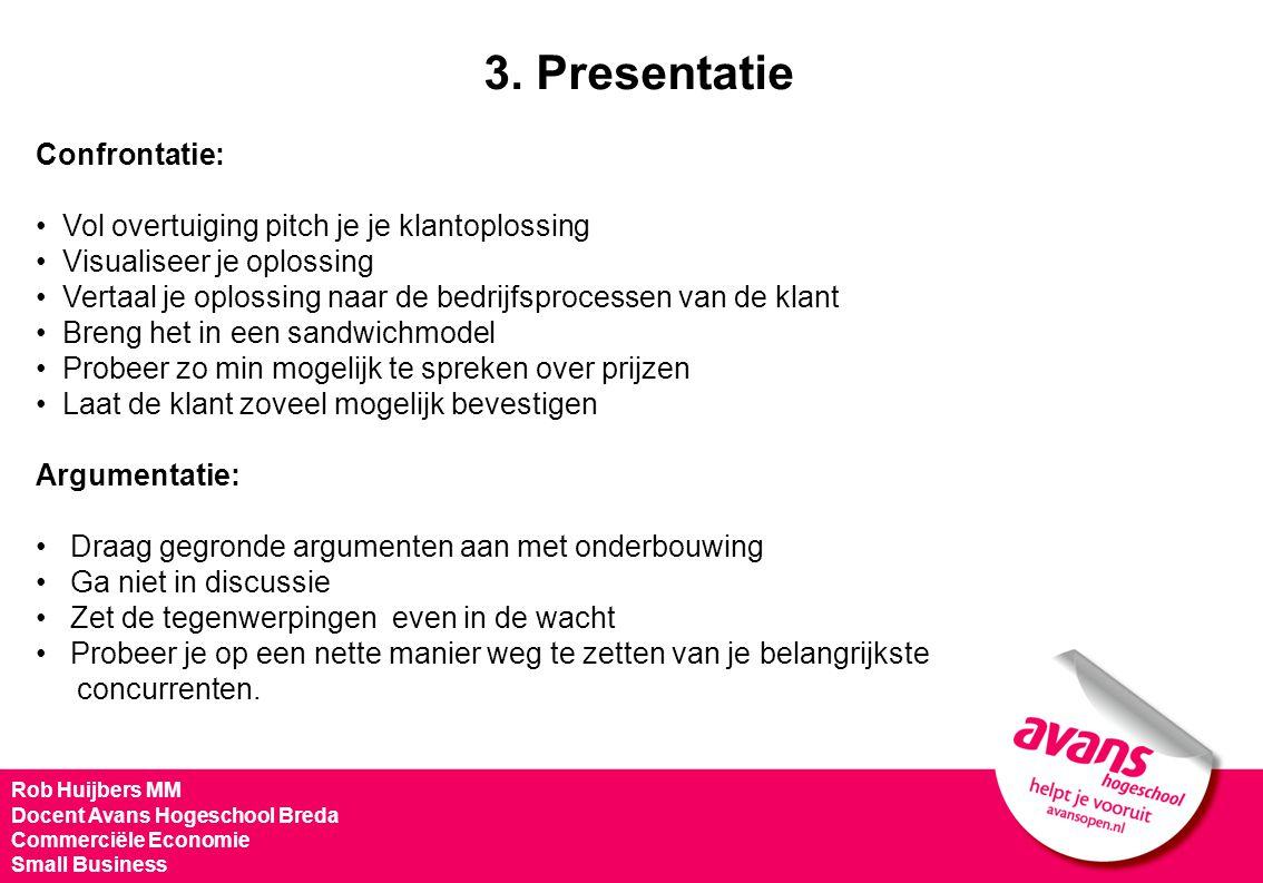 3. Presentatie Confrontatie: