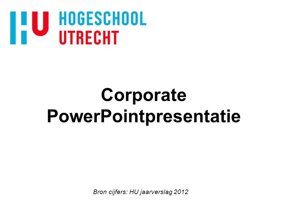 Corporate PowerPointpresentatie