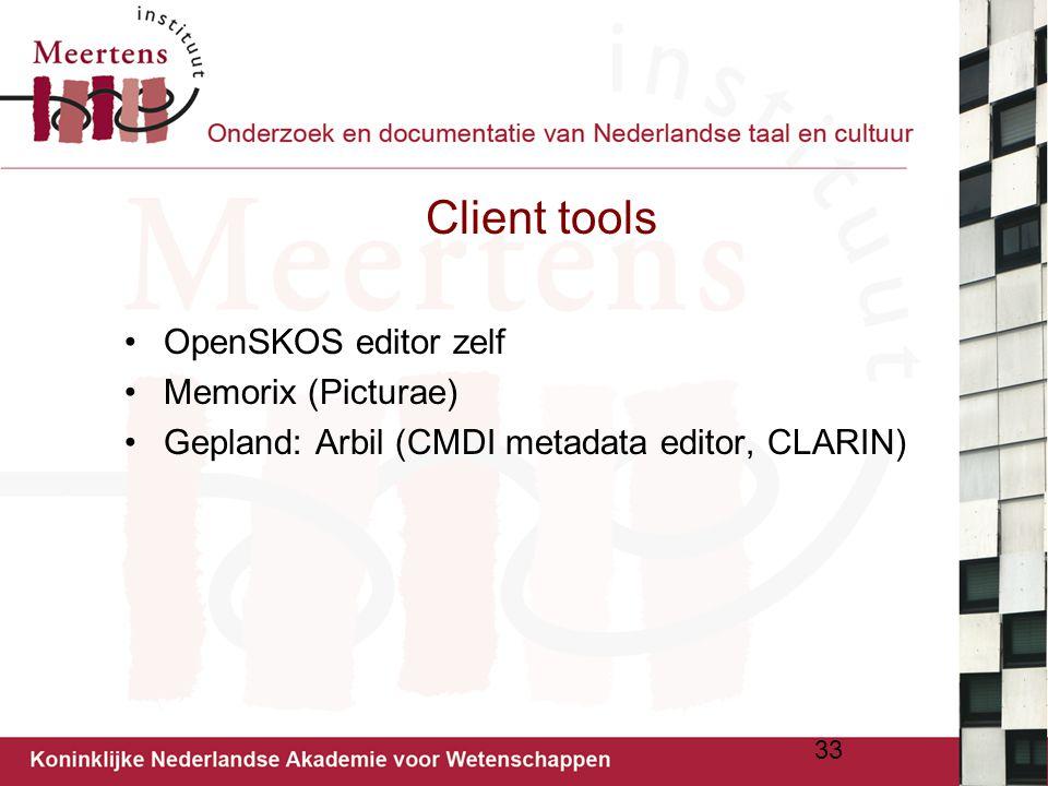 Client tools OpenSKOS editor zelf Memorix (Picturae)