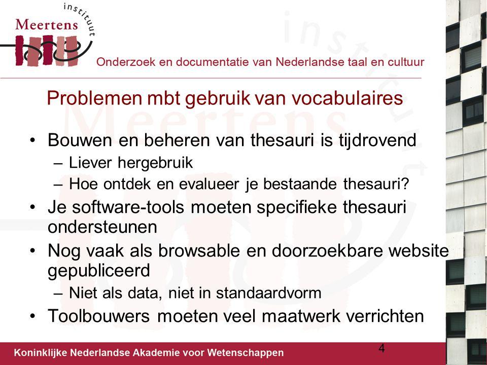 Problemen mbt gebruik van vocabulaires