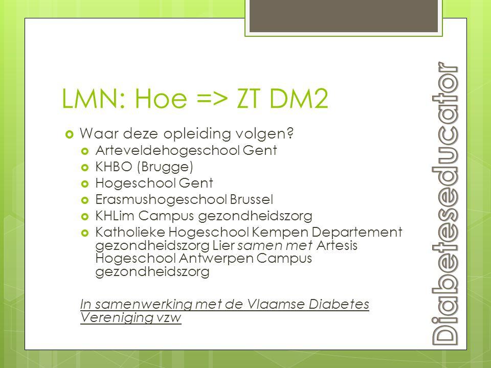 Diabeteseducator LMN: Hoe => ZT DM2 Waar deze opleiding volgen