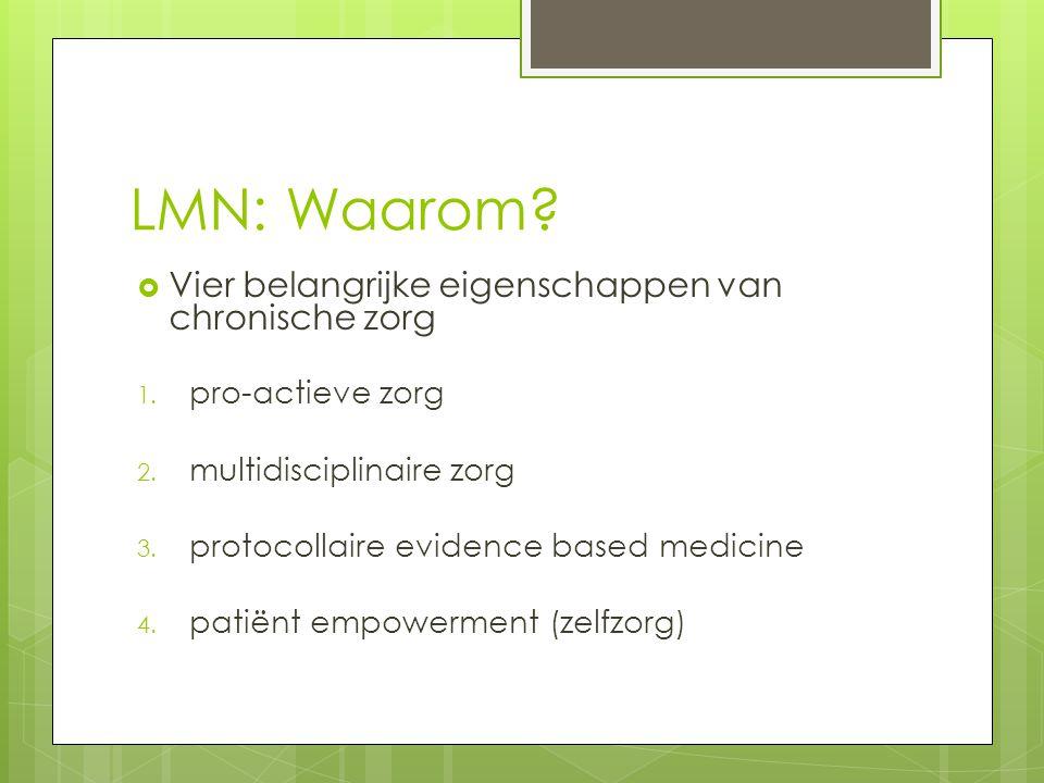 LMN: Waarom Vier belangrijke eigenschappen van chronische zorg