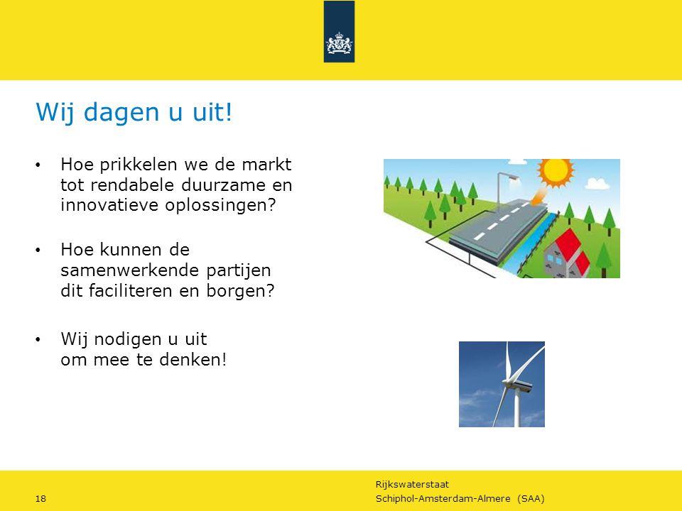 Wij dagen u uit! Hoe prikkelen we de markt tot rendabele duurzame en innovatieve oplossingen